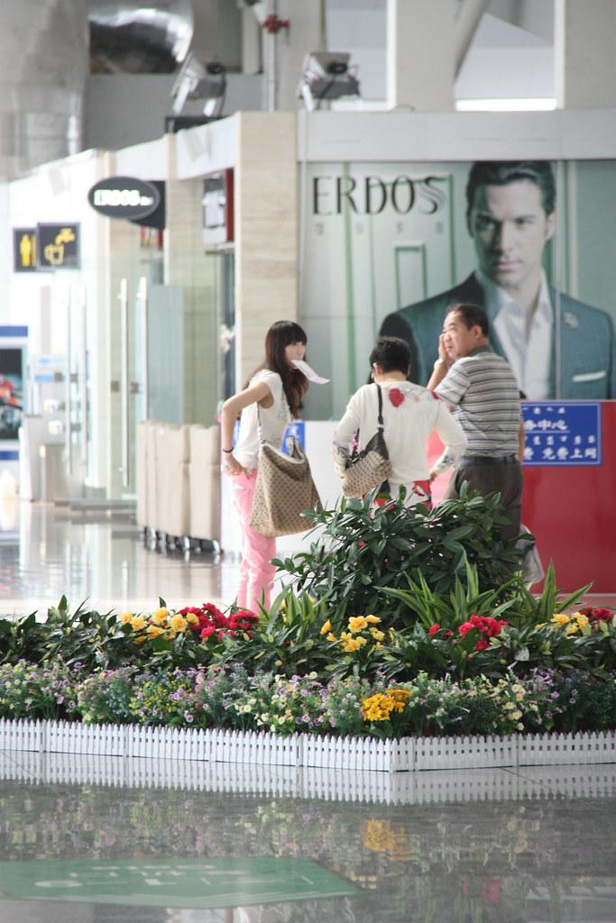 机场遇见女孩