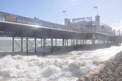 Brighton_Beach_027 (Peter-Williams) Tags: uk sea seascape beach water sussex pier seaside brighton wave groyne breakwater