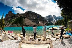 Moraine lake (Northwest dad) Tags: lake green water cool nikon fisheye 8mm moraine d300 samyang prooptic