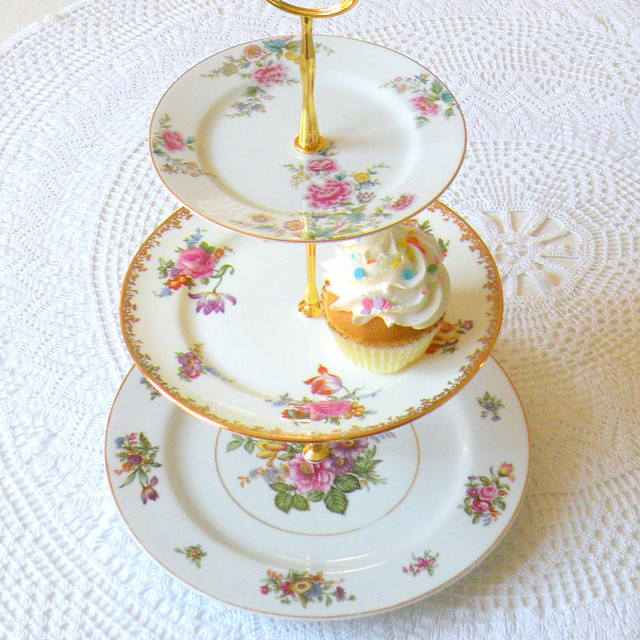 china birthday pink flowers roses party cup floral yellow cake vintage garden stand high afternoon dish display tea handmade antique victorian plate jewelry cupcake theme tray british platter porcelain madhatter saucer tier aliceinwonderland pedestal tiered shabbychic tidbit enligsh highteaforalice