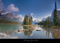 "Spirit Island - Jasper National Park (My Love Affair) (Joalhi ""Back in Miami"") Tags: mountain snow canada jasper glacier alberta jaspernationalpark spiritisland supershot coth5"