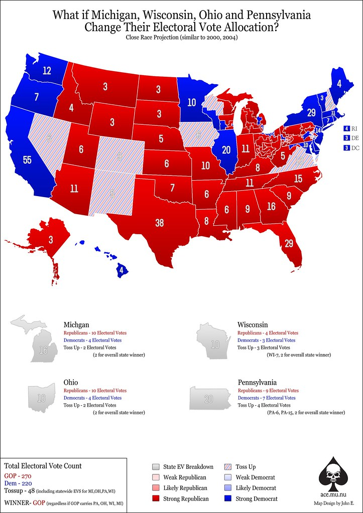 Alternative EV 2012 Election Map