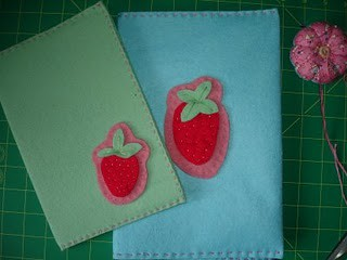 strawberry notebook cover