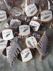 I see some children and they are painted black..... (The Whole Cake and Caboodle ( lisa )) Tags: newzealand cookies cookie rugby balls handpainted prizes kamo whangarei rugbyworldcup silverfern caboodle kps rugbyballs thewholecakeandcaboodle kamoprimaryschool