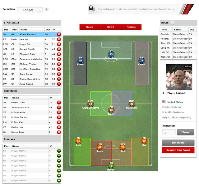 FIFA 12 Creation Centre: Set Formation