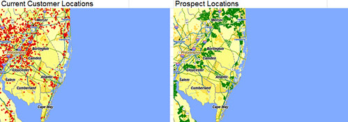 Customer and Prospect Location Mapping