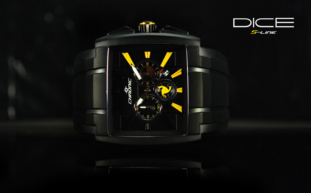 Chronic Watch Dice Black and Yellow