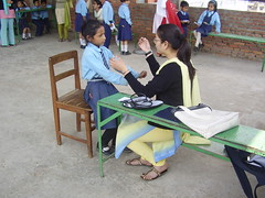 Girl getting a check up from local clinic (rukmini_foundation) Tags: education equality empowerment
