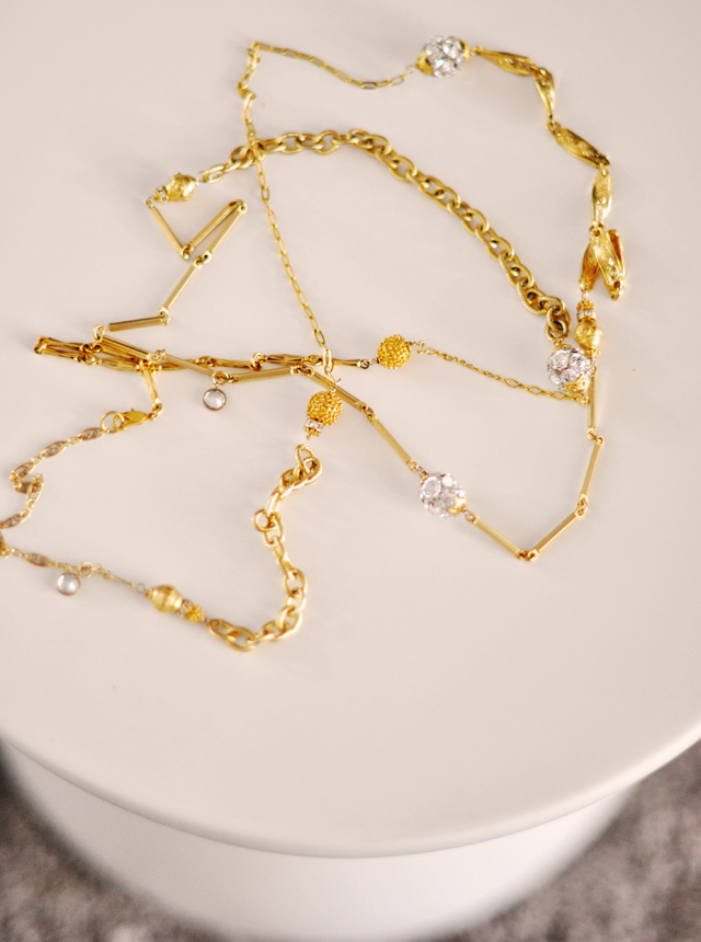 gold chain necklace - cynthia wolff