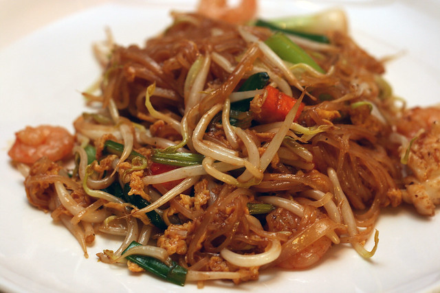 Phad Thai (S$5) - Fried Thai Flat Rice Noodles