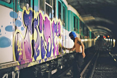 Metro, Gypsies, Baguettes, Ravioli and RATP.... (Site1) Tags: paris graffiti metro action plan part actions dws 2011
