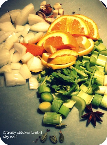 citrusy chicken broth