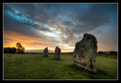 Avebury Sunrise (izzy's-photos) Tags: sky orange cloud green stone sunrise avebury stonecircle sheeppoo blinkagain bestofblinkwinners