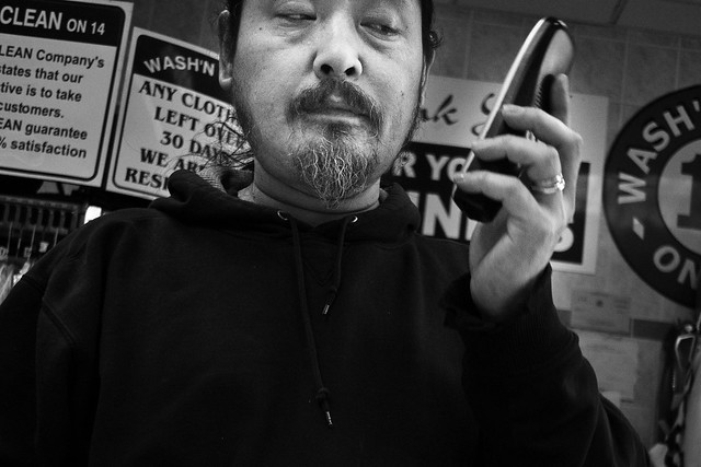 Call screening, panasonic gh2, street portrait