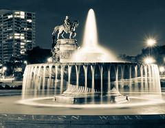 Philly Fountain (Sky Noir) Tags: philadelphia fountain night long exposure downtown cityscape pennsylvania pa philly cityofbrotherlylove skynoir bybilldickinsonskynoircom
