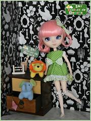 Vestido de lunaritos verde - Green polka dots dress ♥ (* DeSSiTa *) Tags: las set de outfit dress dal bjd pullip blythe vestido conjunto cositas dessita