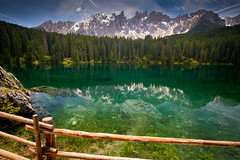 "Lago Carezza • <a style=""font-size:0.8em;"" href=""http://www.flickr.com/photos/55747300@N00/6173001635/"" target=""_blank"">View on Flickr</a>"