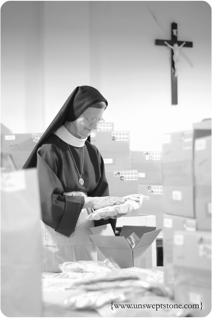 Poor Clares Distributing Bread
