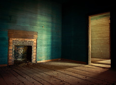 Quiet Blues (evanleavitt) Tags: county wood blue light shadow house abandoned home rural ga georgia fireplace paint darkness decay empty south country rustic johnson atmosphere southern american and hearth weathered lonely haint the