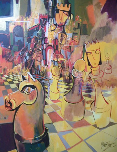 Horse on the Loose - Painting - Cubism