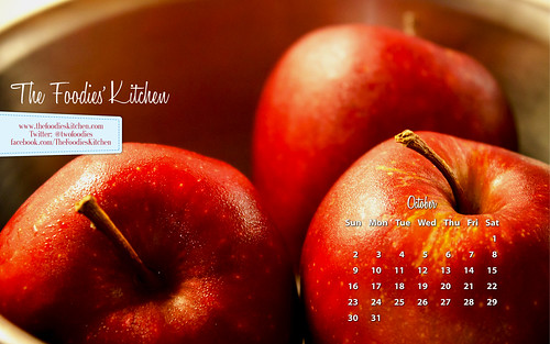 Foodies Freebie: October 2011 Desktop Calendar