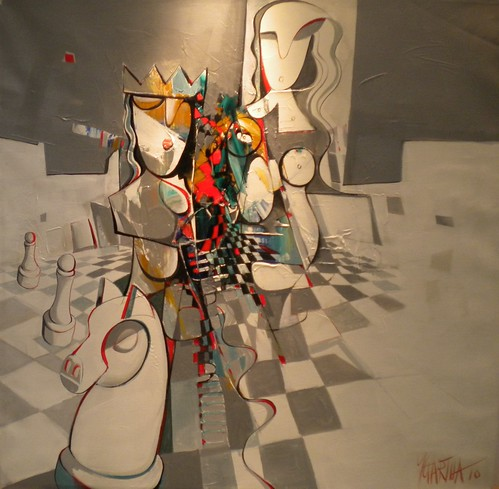 Chess Mate - Painting - Cubism