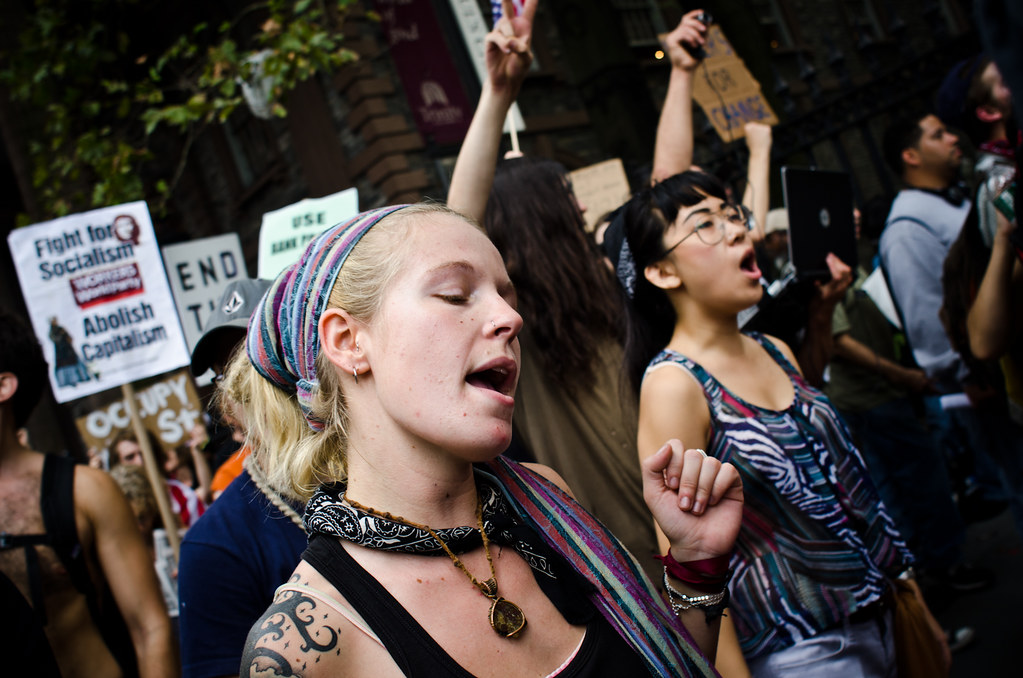 #OccupyWallStreet March September 24 ©2011 Marnie Joyce CC BY 2.0 - DOOM! Magazine