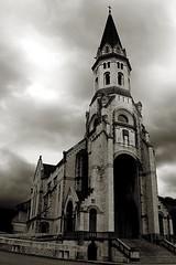 Basilique de la Visitation (Mam'zelle Kaelle) Tags: annecy monument nb visitation eglise basilique canon450d