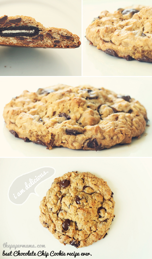 The Best Chocolate Chip Cookie Recipe Ever (with an Oreo center)