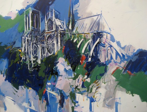 Montmartre in Blue - Painting - Impressionism