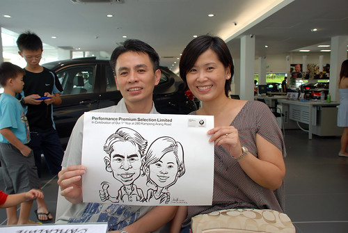 Caricature live sketching for Performance Premium Selection first year anniversary - day 3 - 23