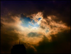 The light will prevail over the darkness. (brooksbos) Tags: city light sky urban storm color boston skyline clouds geotagged ma photography photo sony newengland cybershot bostonma prudential sonycybershot bostonist bay masschusetts lurvely back 02116 thatsboston dschx5v hx5v brooksbos