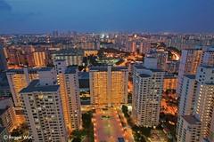 Toa Payoh & Beyond #1. (Reggie Wan) Tags: city urban building architecture evening singapore asia southeastasia cityscape aerialview bluehour publichousing toapayoh moderncity highrisebuildings asiancity hdbapartment reggiewan sonya850 sonyalpha850 gettyimagessingaporeq1