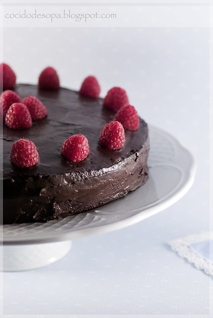 Tarta de chocolate y frambuesa_4