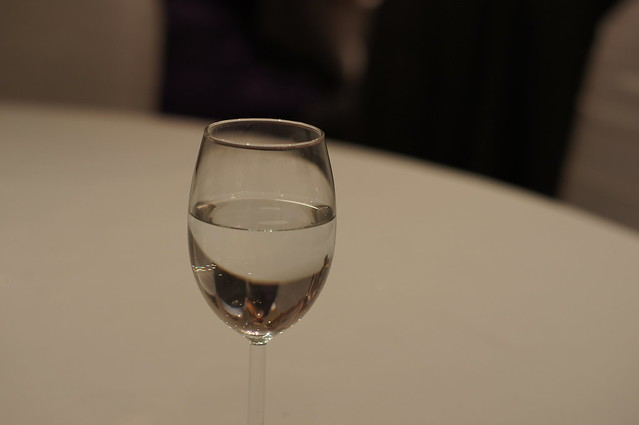 Water in a wine glass