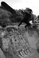 Skateboarding (Snake Oil Magazine) Tags: ohio photography graffiti graf cleveland skaters urbanexploration writers skateboard spraypaint painters funwall gargantuen