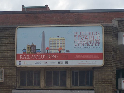 Billboard ad for Rail-Volution conference, October 16th-19th