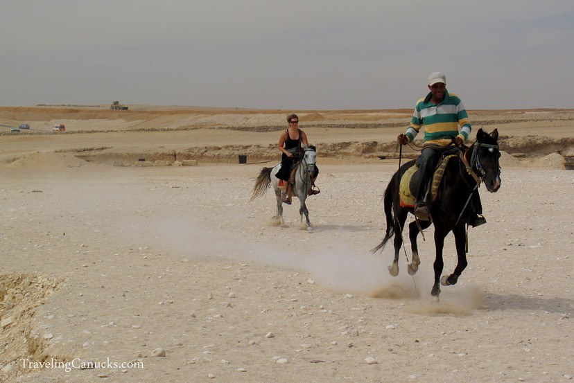 Galloping at the Pyramids