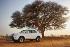Fortuner -HDR (||~  ) Tags: tree nature canon eos desert angle wide wideangle arabia 1855mm 1855 18  ksa 18mm  fortuner      feras suadi   1000d alfuraiji