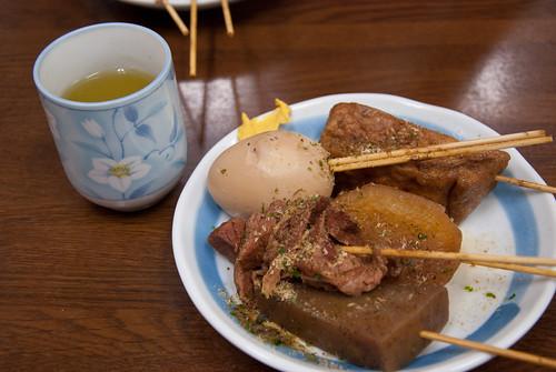 おでん + お茶