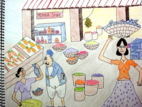 the gallery for gt vegetable market drawing for kids