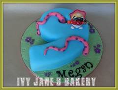 MOSHI MONSTERS (LADY GOOGOO) (Ivy Jane's Bakery) Tags: birthday girls cake nine 9 number9 moshimonsters numbercake ladygoogoo