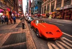 Times Square Corvette HDR (Matthew Pugliese) Tags: nyc newyorkcity timessquare corvette hdr highdynamicrange 10mm hdrcars corvetteconvertible 7thavenyc