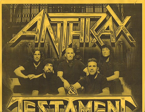 10/16/11 Anthrax/Testament/Death Angel @ First Avenue, Minneapolis, MN (Poster - Top)
