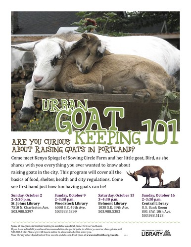 Portland Urban Goat Keeping 101