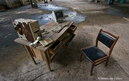 Old Computer and Desk