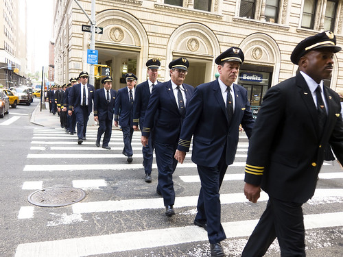 Pilots marching to Wall Street strike