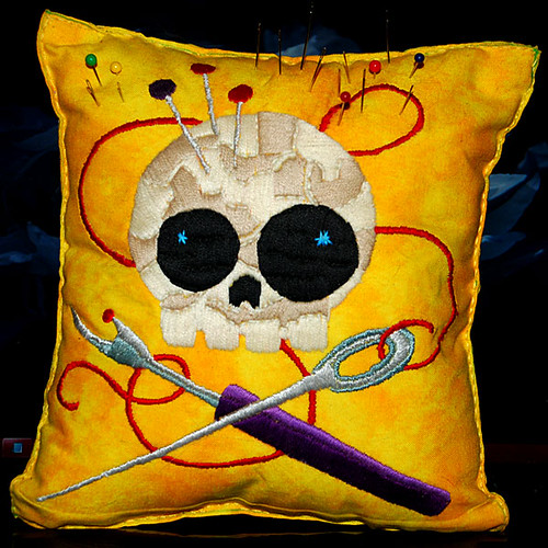 Skully Stitcher Needle Cushion