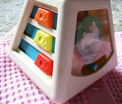 Fisher Price Activity Cube (stephaniesjewelrybox) Tags: vintage fun toys mirror oldschool activity babyshower abacus fisherprice babytoy vintagetoys squeeky