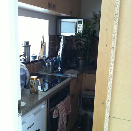 Almost completely inaccessible kitchen